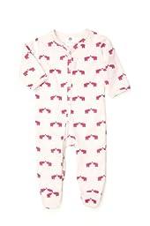 Kate Quinn Organics Unisex-baby Footie, 0-3M (Elephant)
