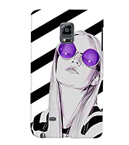 Fuson Trendy Girl Back Case Cover for SAMSUNG GALAXY NOTE EDGE - D4041