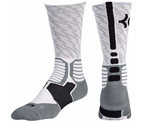 3b36f975a97 Nike Mens KD HyperElite Basketball Crew Socks White Black Size - Import It  All