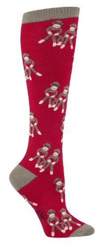 Sock It To Me Sock Monkeys Red Knee High Socks