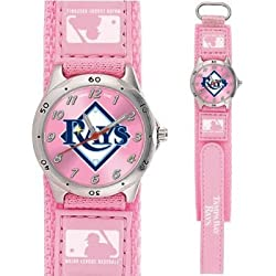MLB Kids' MF1-TB Future Star Series Tampa Bay Rays Pink Watch