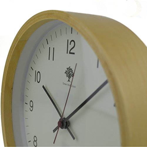Hippih Silent Wall Clock Wood 8-inches Non Ticking Digital Quiet Sweep Decorative Vintage Wooden Clocks(white) 1