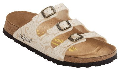 Papillio  Florida Floral paisley cream Clogs And Mules Womens