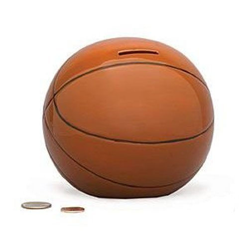 Basketball Sports Themed Ceramic Kids Piggy Bank Bedroom Decor