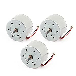 3Pcs 3000RPM 2 Wire Connector Cylindrical Permanent Geared Motor DC 6V