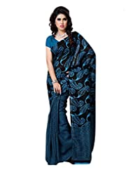 101cart Blue Color Art Silk Party Wear Saree - B00RHSB1JC