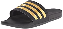 adidas Performance Men\'s Adilette SC+ Gold C M Sandals,Black/Gold/Black,8 M US