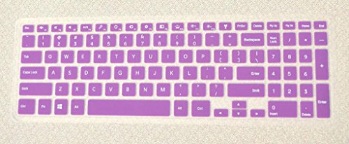 Bodu Silicone Soft Keyboard Cover Protector Skin For Dell Inspiron 15Hr 15Hd 7000 Seires 15Hd-1528 15Hd-2528 15Hd-2628T 15Hd-2828T 15Hd-1828T 15Hd-1628T 15-7537 (Purple)