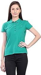 Kidley Gold Women's Casual T-Shirt (Women-Tshirt-Green-XL, Green, XL)