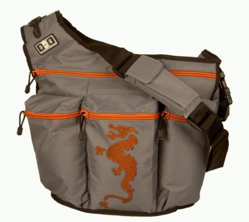 Diaper Dude Gray Diaper Bag with Dragon - New!