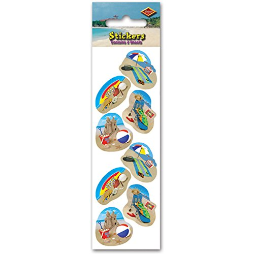 Summer Beach Party Stickers   (2 Shs/Pkg) - 1