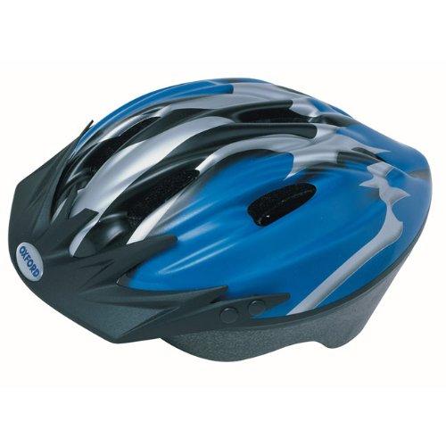 Oxford F15 Hurricane Helmet - Blue/Silver, Large