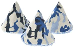 The Peepee Teepee for the Sprinkling WeeWee: 5 Blue Camo in Cellophane Bag