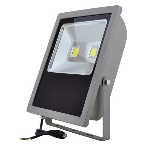Ledwholesalers Series-3 Led Outdoor Security Floodlight Fixture 100-Watt, White, 3709Wh