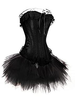 Corsage Kleid Mini Rock Petticoat Tütü schwarz Vakuumbeutel