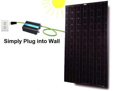 Readymade Solar Power Kit- 500Watt Grid Tie Inverter with 130Watt Solar Panel, Prewired and Configured. Do It Yourself (DIY) Solar; UL ; 5-years Warranty