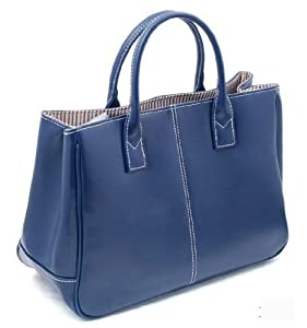 niceeshop(TM) Fashion Women Simple PU Leather Clutch Handbag /Totes Bag-Blue