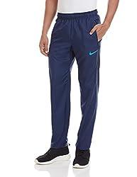 Nike Men's Polyester Track Pants (886061997479_644270-410_Large_Midnight Navy/(Blue Lagoon))