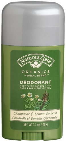 Nature's Gate Organics Deodorant, Chamomile & Lemon Verbena, 1.7-Ounce Sticks (Pack of 4)
