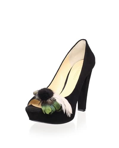 Enzo Angiolini Women's Red Carpet Platform Pump  - Black Suede