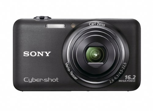Sony DSCWX7 Cyber-shot Digital Still Camera - Black (16.2MP, 5x Optical Zoom) 2.8 inch LCD