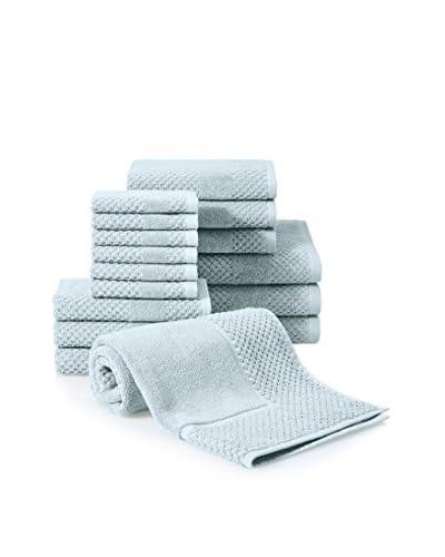 Chortex Honeycomb 16-Piece Towel Set, Duck Egg