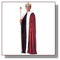 Rubie's Costume Burgundy Velvet King's Cape, Burgundy, One Size