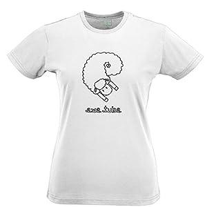 Ewe Tube Geeky Creative Sheep Pun Tshirt Hand Drawn Graphic Joke Gift Womens Slim Fit Xsmall - Xlarge Multiple Colours
