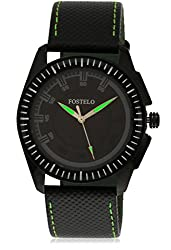 Fostelo Mens Black Dial Analog Wrist Watch (FST-117)