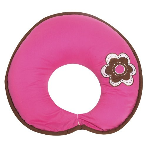 Damask Pink/chocolate Nursing Pillow