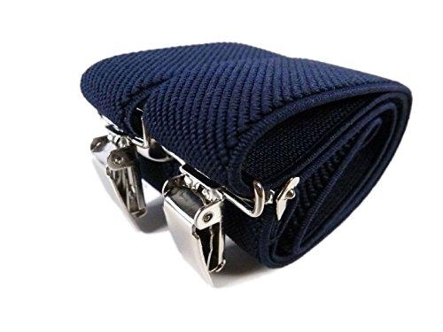 Bretelle Elasticizzata per Bimbo 0-2 Anni, 'Y' Clip design - Blu Scuro