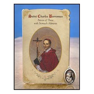 saint-charles-borromeo-healing-holy-card-with-medal-patron-of-stomach-ailments-free-bible-eraser-inc