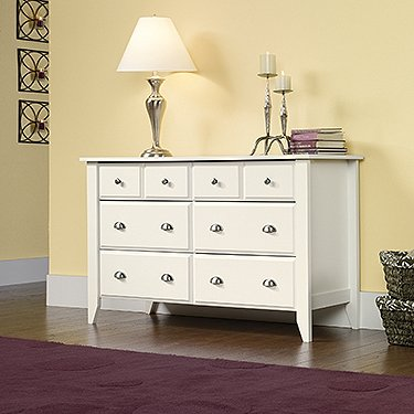 Buy Discount Sauder Shoal Creek Dresser in Soft White Finish