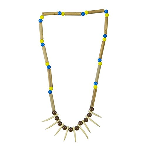 Native American Indian Caveman Claw And Bead Necklace Costume Accessory