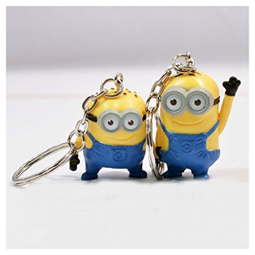 New-Rare-6PCS-Keychain-Set-Despicable-Me-2-Mini-Action-Figure-3D-Minion-Toys--USA-by-TrustyTrade