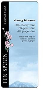 NV Ten Spoon Cherry Blossom Fruit Wine 500 mL - Certified Organic - No Added Sulfites