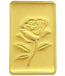 TBZ-The Original 10 gm, 24k(999) Yellow Gold Rose Precious Coin