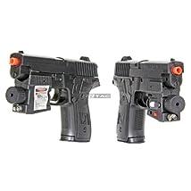 BBTac® Dual Spring 216AF Airsoft Gun Spring Pistols 115 FPS Airsoft Hand Gun (Two Pack) with BBTac® Warranty