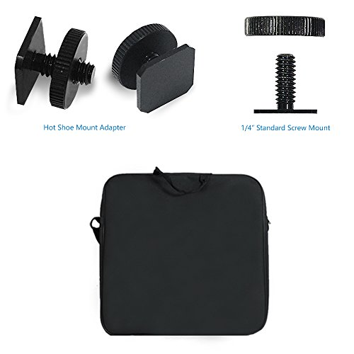 LimoStudio-18-inch-240-LED-Ring-Light-5500K-Dimmable-with-Cell-Phone-Holder-Clamp-Clip-Shoe-Mount-Adapter-Light-Stand-Tripod-Carry-Case-Bag-Photo-Studio-AGG2040