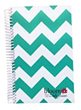 2013-2014 bloom Academic Year Daily Day Planner Fashion Organizer Agenda August 2013 Through July 2014 Teal Chevron