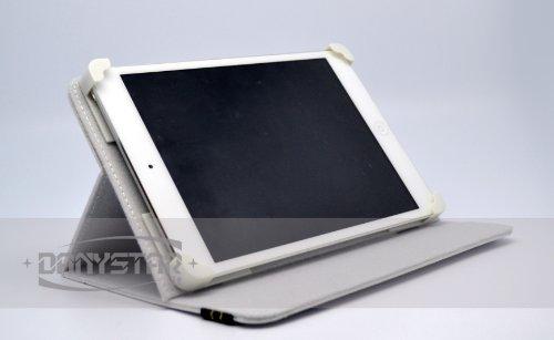 Custodia Cover Universale / Regolabile 8'' per Tablets come Acer Iconia W3 , TREKSTOR SurfTab Ventos 8.0 , ARCHOS 80 Titanium , ARCHOS 80 Xenon , ARCHOS G9 Turbo 8 , ARCHOS 80 G9 , MEDIACOM Smart Pad 875 S2 , ACER W3-810-27602G03NSW , E-Book Readers , etc. (Bianco) - Accessori per Tablet Danystar