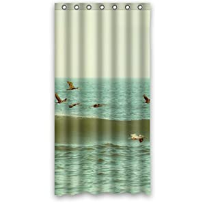 "Amazon Seagull Custom 36"" x 72"" Shower Curtain 7"