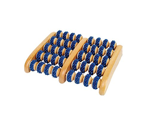 Amazing Wooden Foot Roller by Body Back Company - Plantar Fasciitis Pain Relief, Pressure Point Therapy Massager, Reflexology, Shiatsu & Acupressure Massage for Heel & Arch Pain