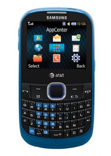 Samsung A187 Unlocked Phone with QWERTY Keyboard, 1.3 MP Camera, Music Player and Speakerphone - Unlocked Phone - US Warranty - Blue