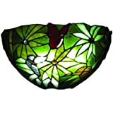 Exciting Lighting AMB3000 Wireless Wall Tiffany Rain Forest Sconce