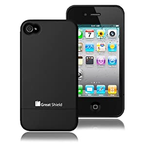 GreatShield iSlide Slim-Fit PolyCarbonate Hard Case for Verizon / AT&T Apple iPhone 4 / iPhone 4G HD – Black