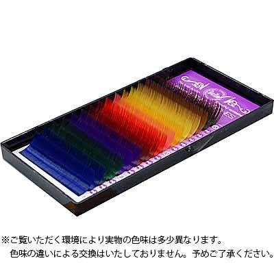 カラーエクステ カラーMIX シートタイプ Jカール 13mm×0.15mm