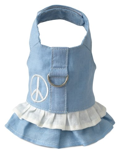 Doggles Hemp Dress Dog Harness with Peace Sign, Blue, XX Small (Hemp Dog Harness compare prices)
