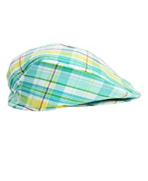 RuggedButts® Infant / Toddler Boys Seafoam & Yellow Plaid Drivers Cap - Seafoam - 0-6m