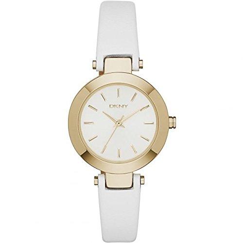 DKNY  NY2404 - Reloj de cuarzo con correa de acero inoxidable para mujer, color blanco